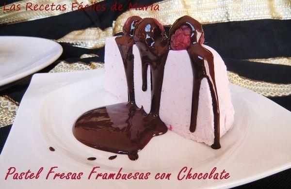Pastel de Fresas y Frambuesas con Chocolate Postres y Dulces para San Valentin